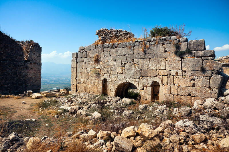 Ruins in Tlos royalty free stock images