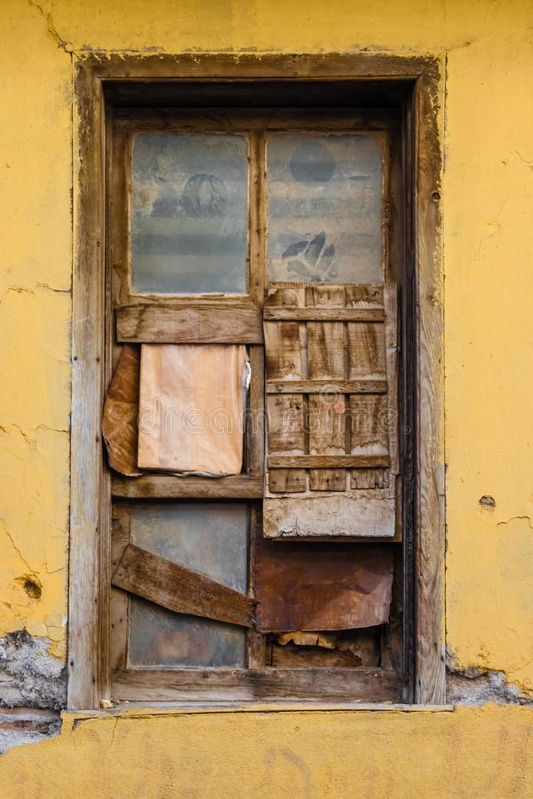 Ruins of Traditional Window Waiting for Renovation in Eskisehir. Ruins of Traditional Turkish window waiting for renovation in Eskisehir stock photo