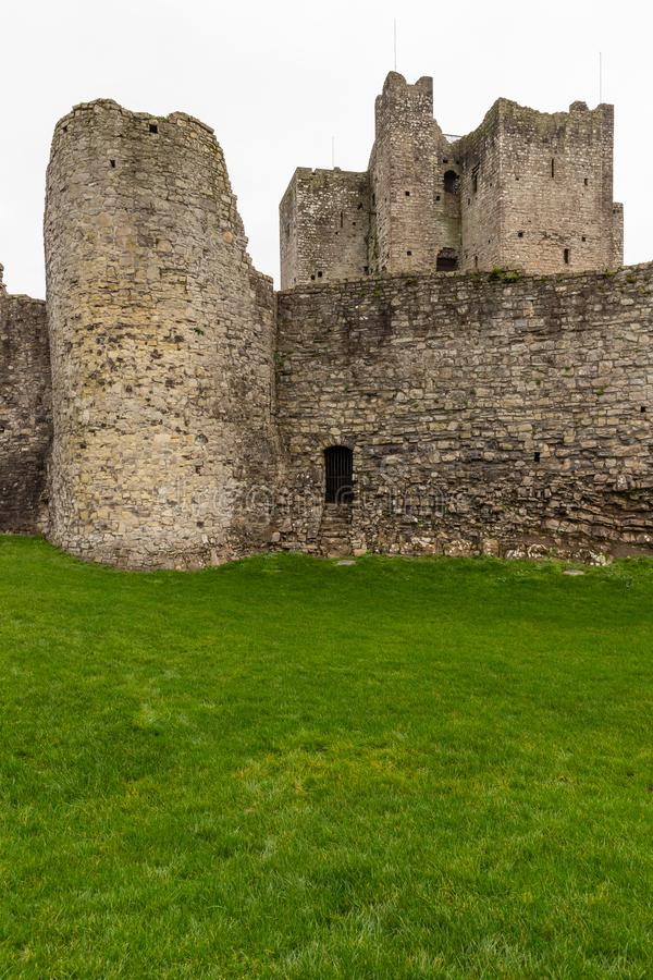 Ruins of Trim castle royalty free stock photography