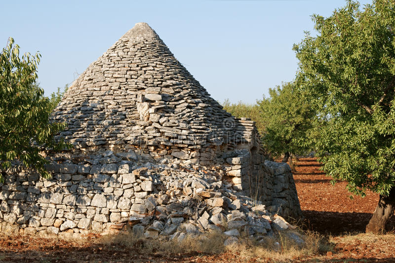 Ruins of trulli house stock photography