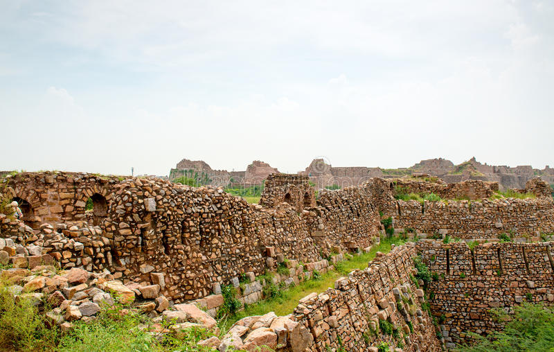 Ruins of Tughlaqabad Fort in Delhi, India royalty free stock photo
