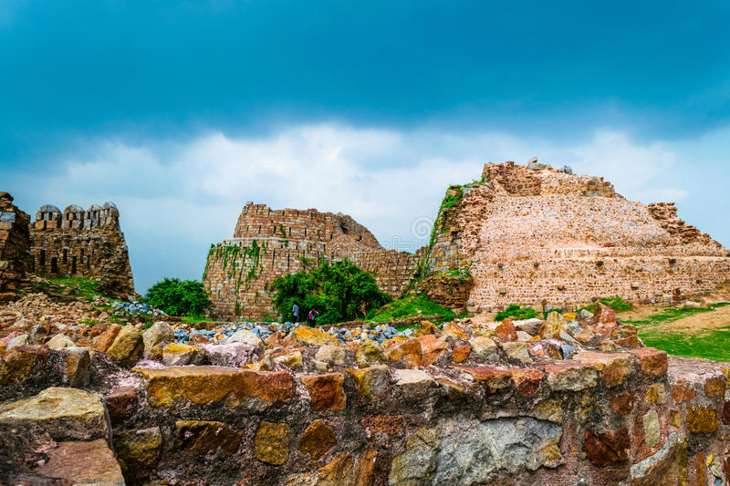 Ruins of Tuglakabad Fort royalty free stock images