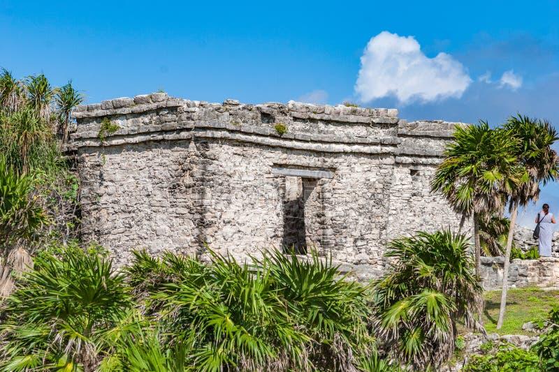 Ruins at Tulum Mexico stock photos