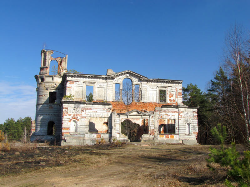 Ruins of Tyshkevich palace royalty free stock images