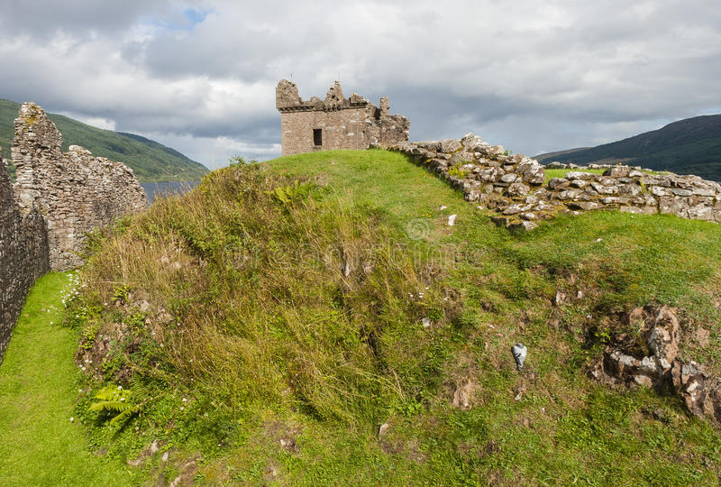 Ruins of Urquhart Castle - Scotland stock photography