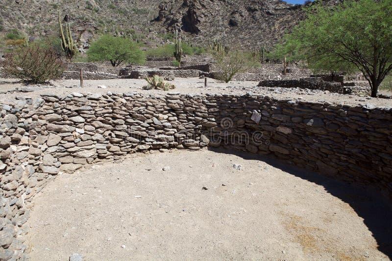 Ruins van Quilmes in de provincie Calchaqui Valleys, provincie Tucuman, Argentinië royalty-vrije stock afbeelding