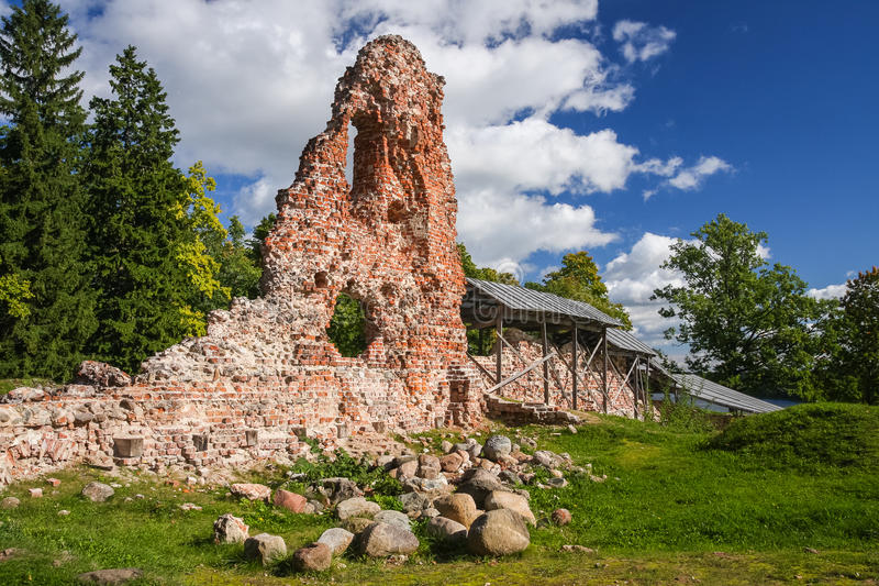 Ruins of Viljandi castle stock image