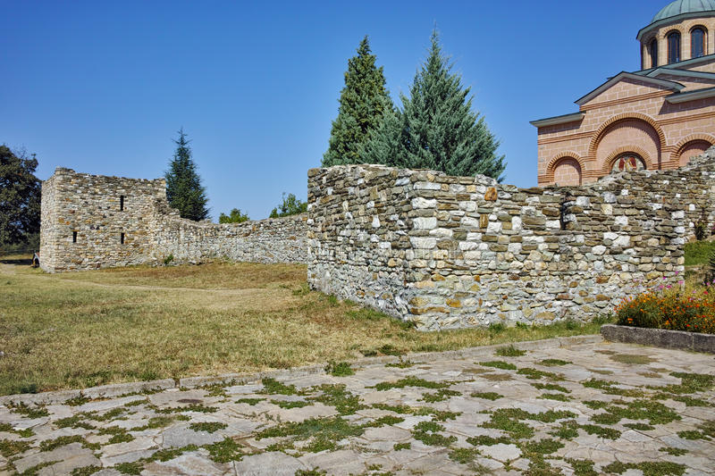 Ruins of wall of Medieval Monastery St. John the Baptist, Bulgaria. Ruins of wall of Medieval Monastery St. John the Baptist, Kardzhali, Bulgaria stock photos