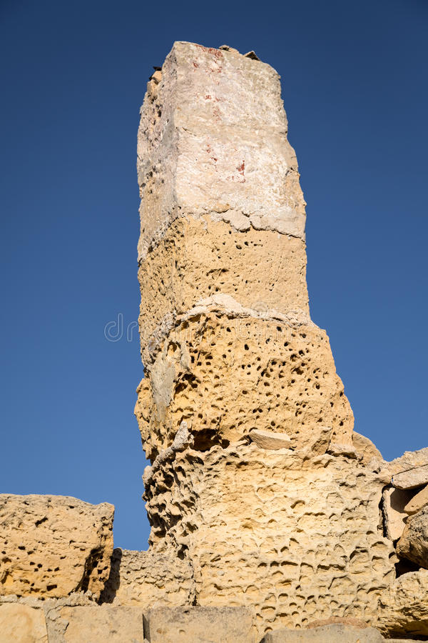 The ruins of the watchtower on the coast. stock photos