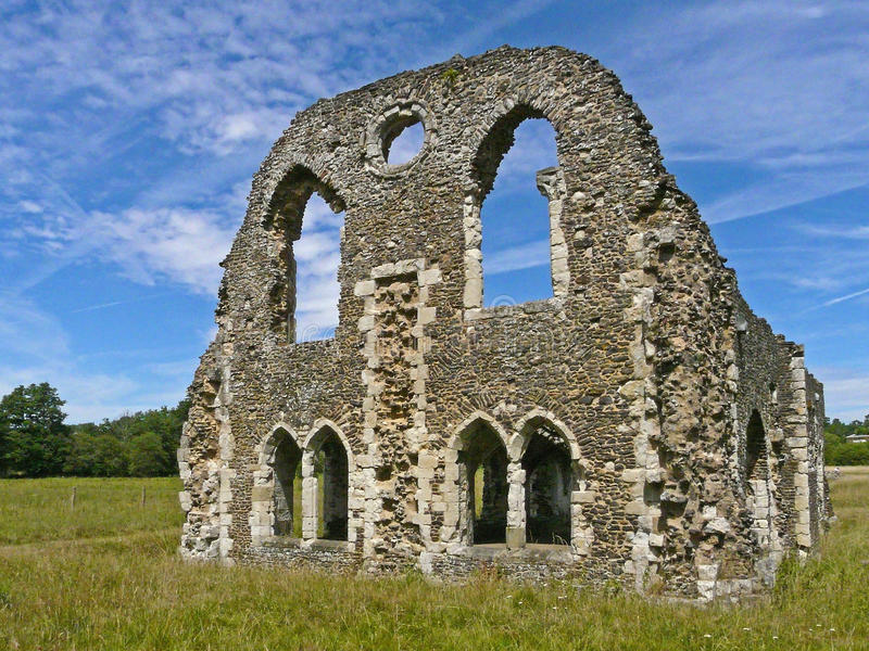 Download Ruins Of Waverley Abbey, Surrey, England Stock Image - Image of architecture, monastery: 25122919