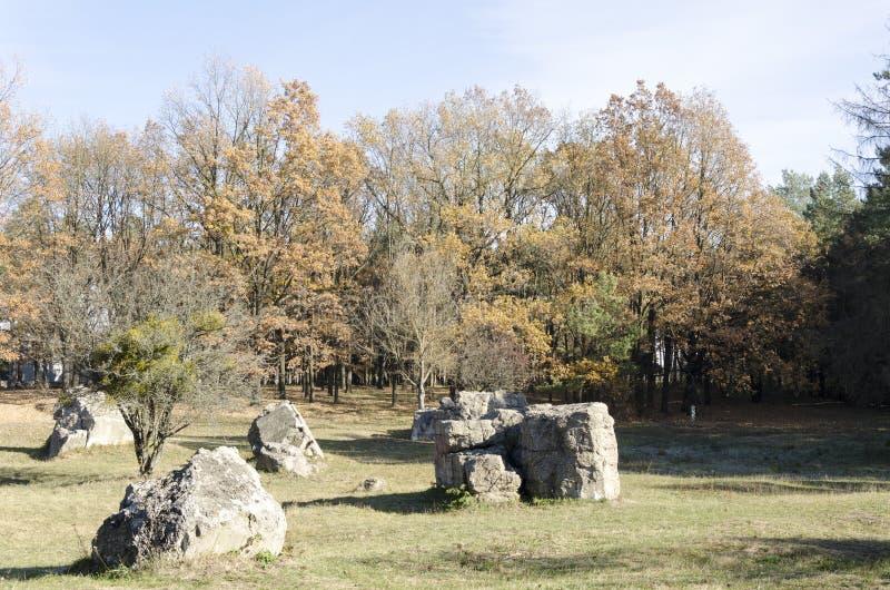 Ruins Werewolf. The rate of Adolf Hitler in Ukraine. stock images