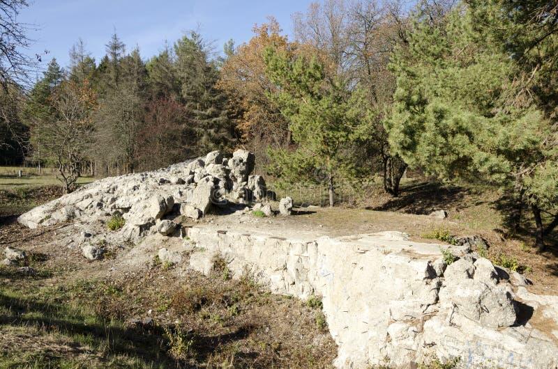 Ruins Werewolf. The rate of Adolf Hitler in Ukraine. stock photo