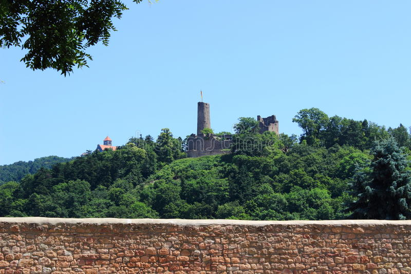 ruins Windeck and Wachenburg, Weinheim, Germany stock photo