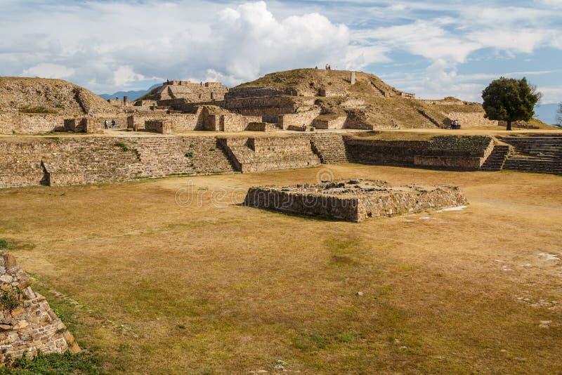 Ruins of the zapotec pre-hispanic city Monte Alban, Oaxaca. Mexico royalty free stock photos