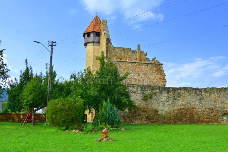 Ruiny średniowieczny cistercian opactwo w Transylvania zdjęcie stock