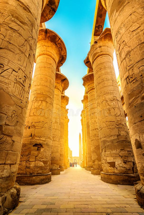 Ruiny świątyni Luxor obrazy royalty free