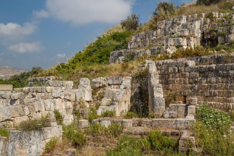 Ruiny świątynia Eshmun blisko Sidon fotografia stock