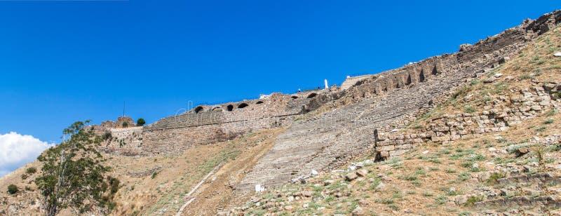 Ruiny amfiteatr w Pergamon zdjęcia stock