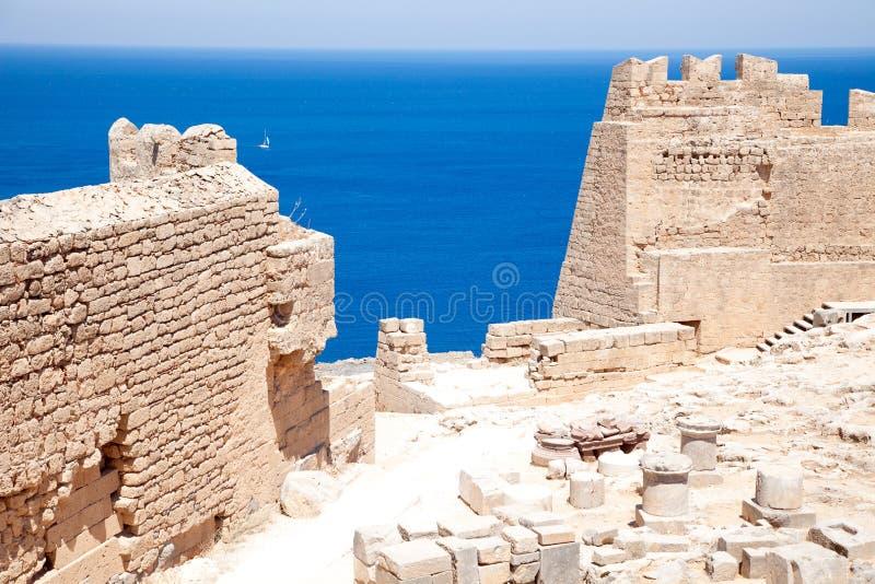 Ruiny antyczna świątynia obraz stock