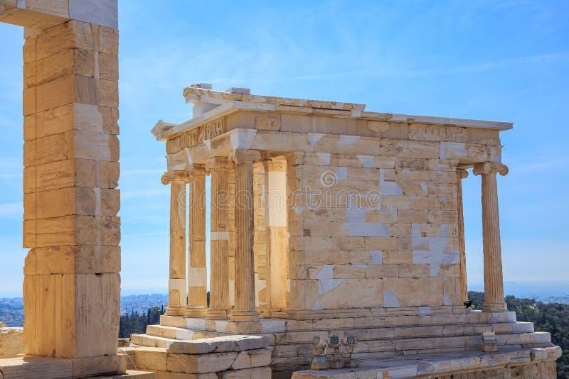 Ruiny antyczna świątynia na akropolu wzgórzu zdjęcia royalty free