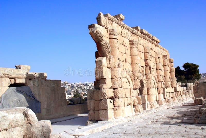 Ruiny antyczna świątynia w Jerash, Jordania fotografia stock