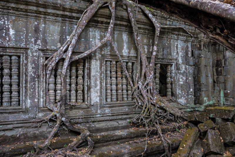 Ruiny antyczna Beng Mealea ?wi?tynia nad d?ungl?, Kambod?a fotografia stock