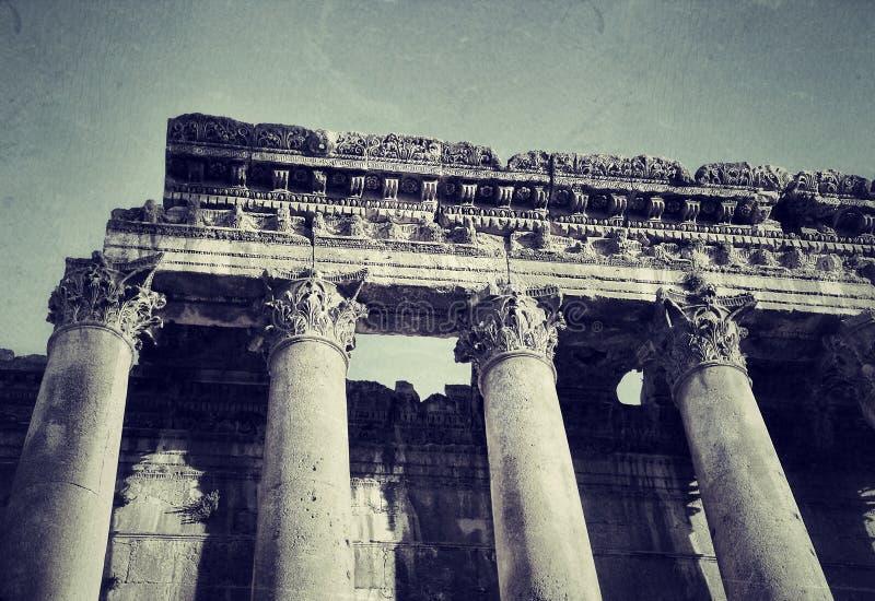 Ruiny antyczne kolumny obraz royalty free