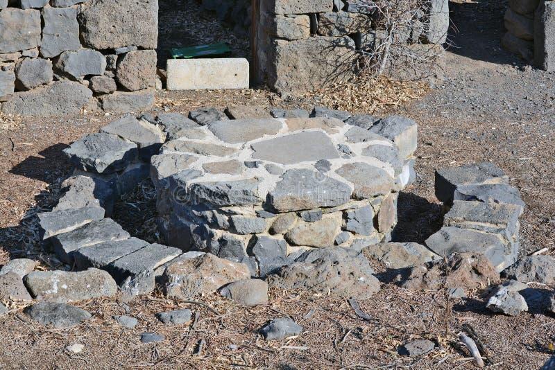 Ruiny antyczni budynki w parku narodowym Gamla obrazy royalty free
