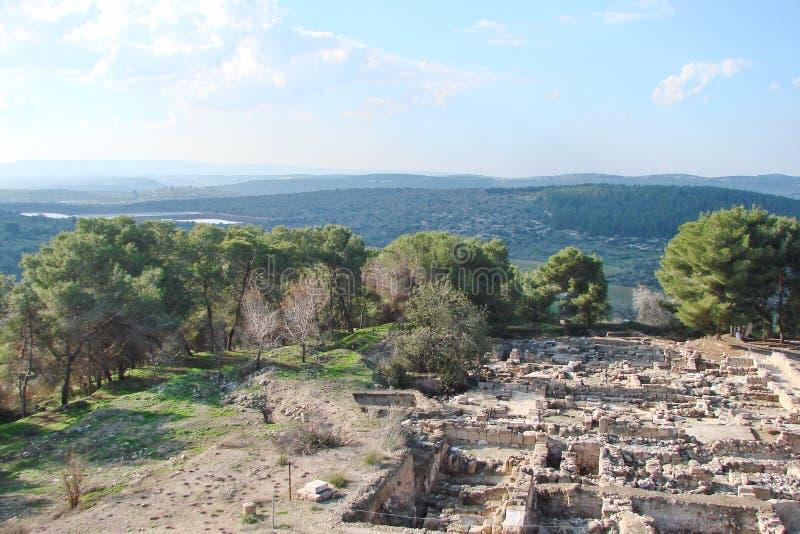 Ruiny antyczni miasteczka imperium rzymskie Beth Shearim i Zippori Izrael obraz royalty free