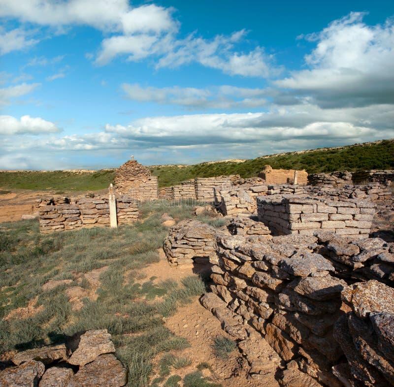 Ruiny antyczny cmentarz zdjęcia royalty free