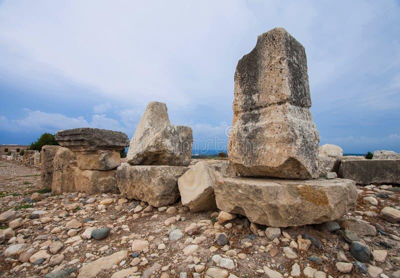 Ruiny antyczny Cypr miasto zdjęcie royalty free