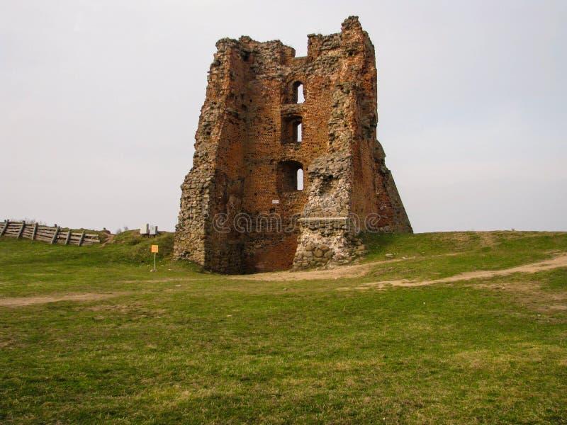 Ruiny antyczny feodalny kasztel obrazy stock
