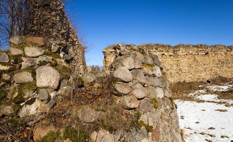 Ruiny antyczny forteca obrazy stock