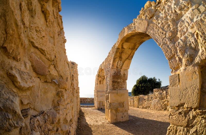Ruiny Antyczny Kourion Limassol okręg Cypr fotografia royalty free