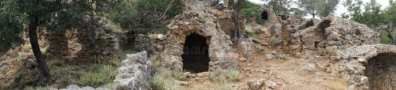Ruiny antyczny Lissos zdjęcie stock