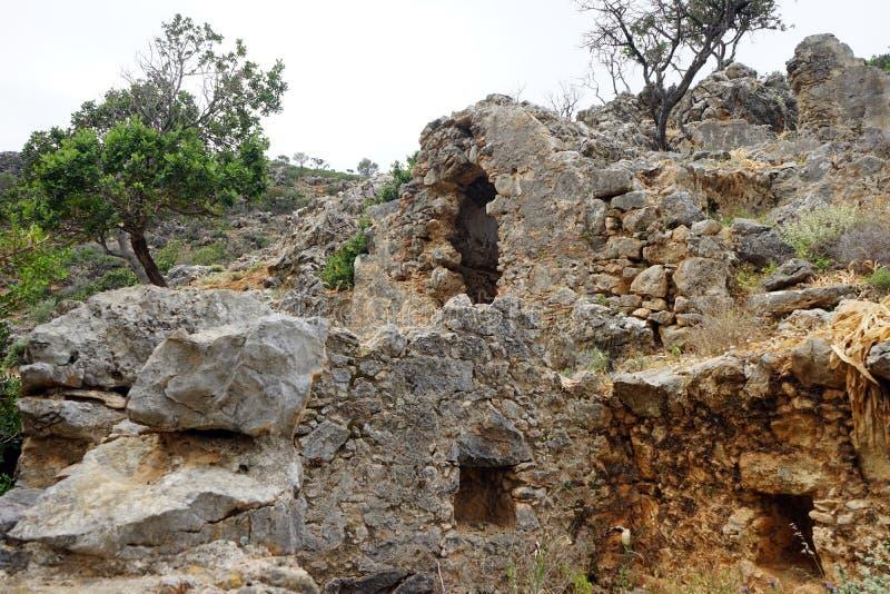 Ruiny antyczny Lissos obraz royalty free