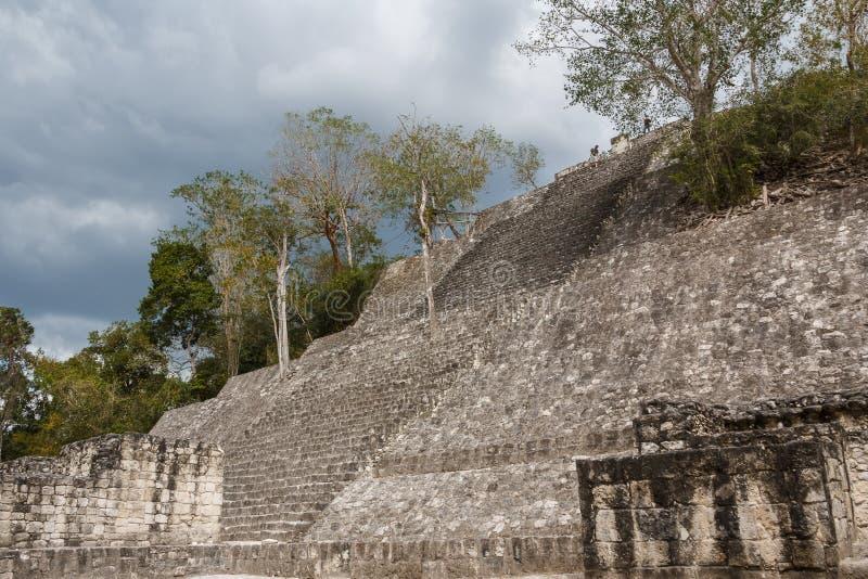 Ruiny antyczny Majski miasto Calakmul zdjęcia stock