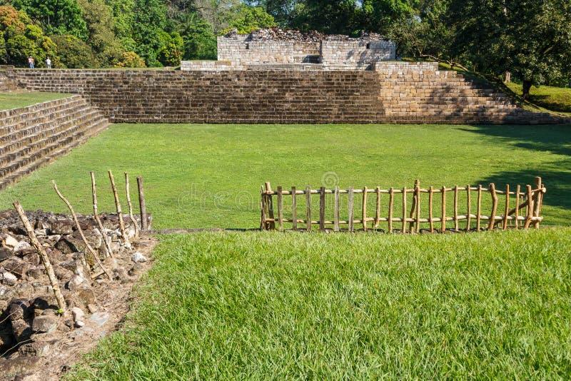 Ruiny antyczny Majski miasto Quirigua obraz royalty free