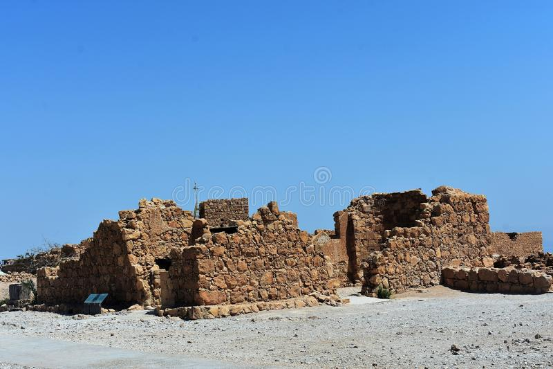 Ruiny antyczny Masada, Południowy okręg, Izrael zdjęcia royalty free