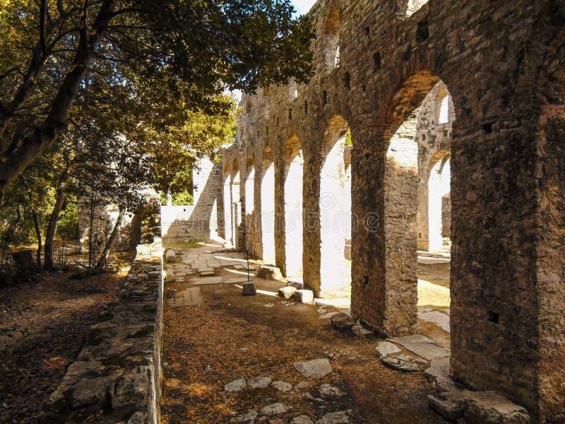 Ruiny antyczny miasteczko Butrint obraz stock