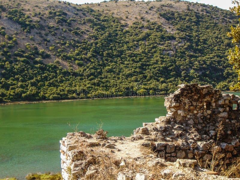 Ruiny antyczny miasteczko Butrint zdjęcia royalty free