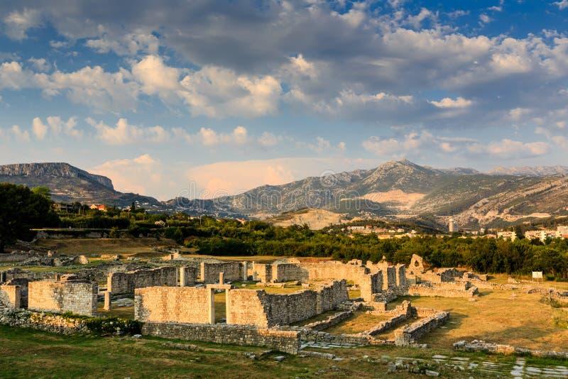 Ruiny Antyczny Miasteczko Salona obraz stock