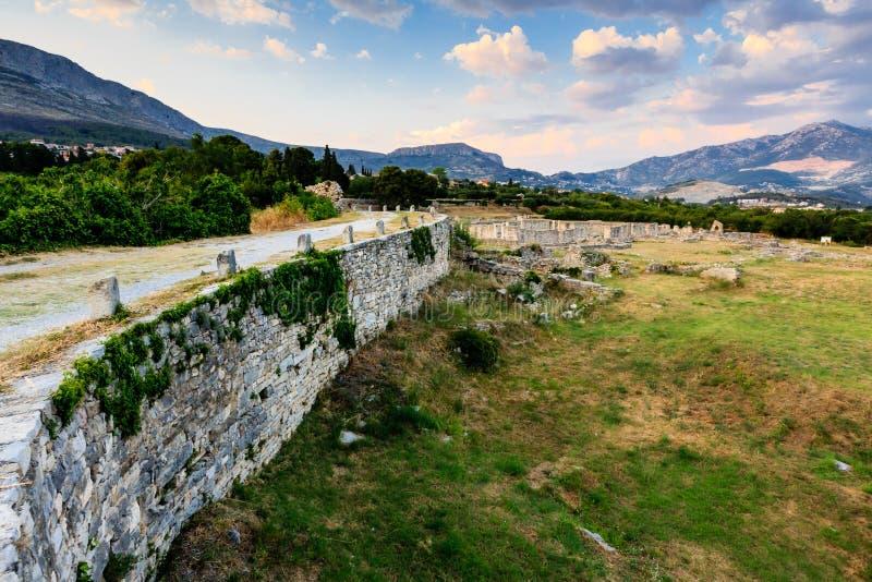 Ruiny Antyczny Miasteczko Salona zdjęcia stock