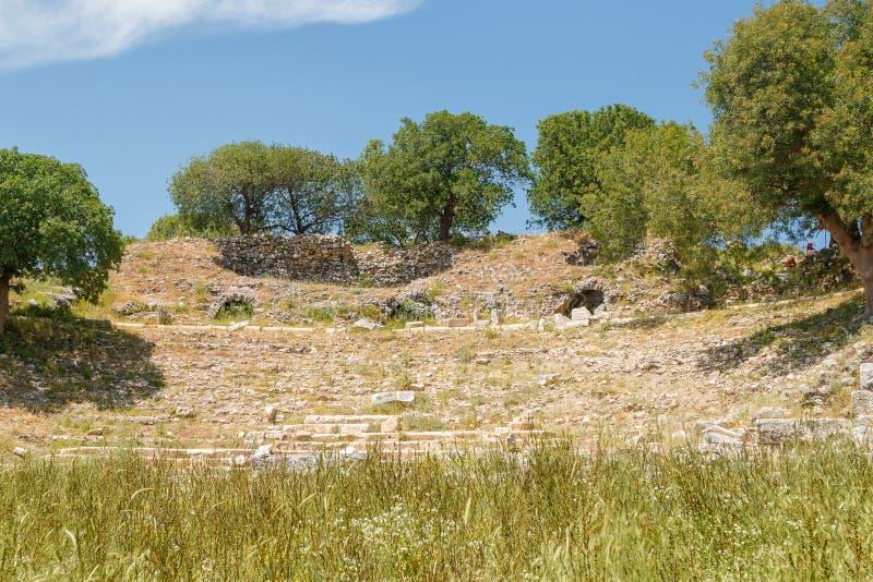Ruiny antyczny miasteczko Teos zdjęcia stock