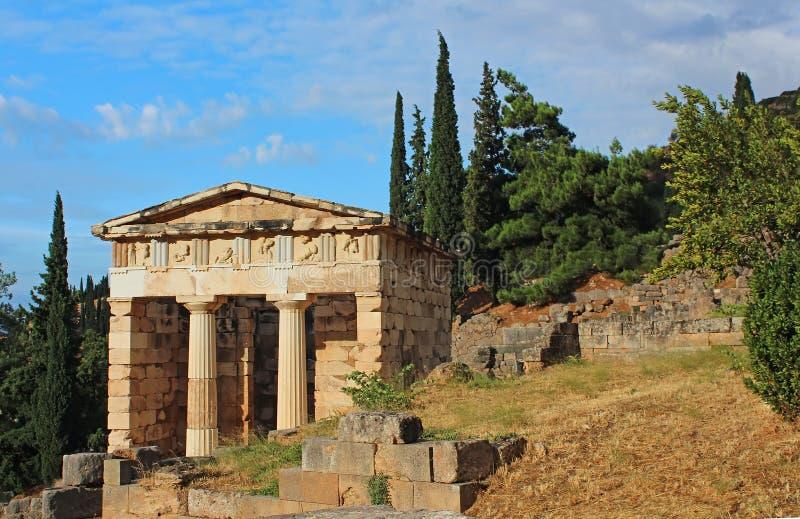 Ruiny antyczny miasto Delphi obrazy royalty free