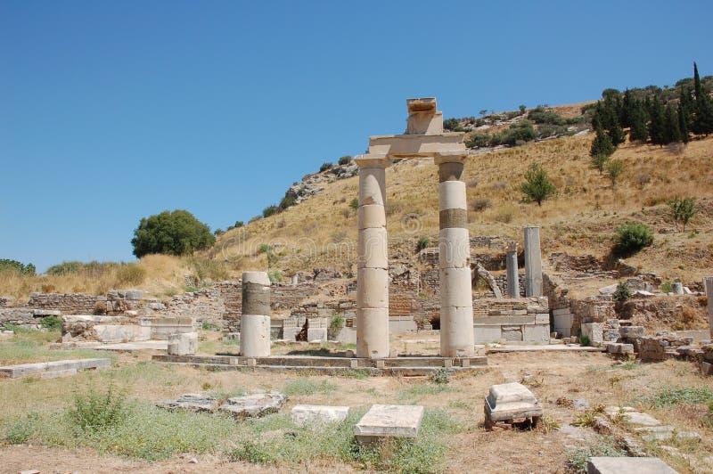Ruiny antyczny miasto Ephesus, Turcja zdjęcia royalty free