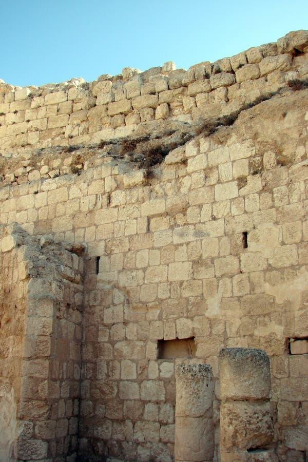 Ruiny antyczny miasto Herodion i naturalna sceneria wokoło go Izrael obrazy royalty free