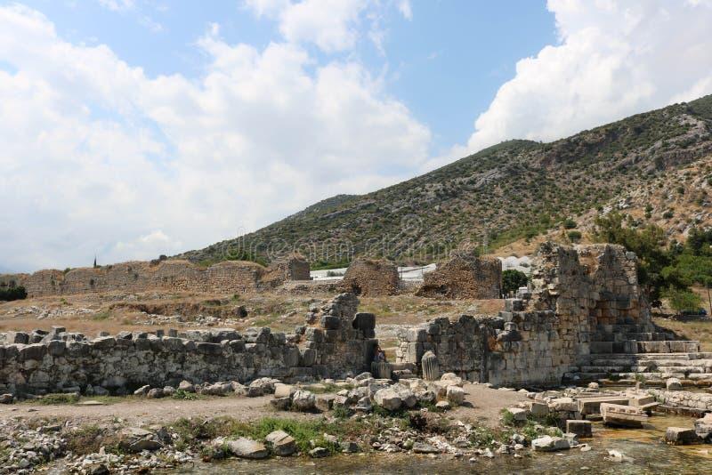 Ruiny antyczny miasto Lymira blisko finike, Antalya Turcja obraz royalty free