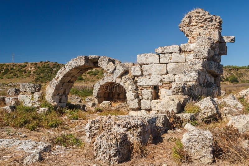 Ruiny antyczny miasto Perge zdjęcie stock