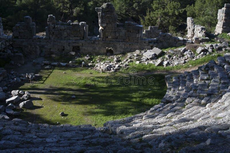 Ruiny antyczny miasto Phaselis fotografia stock